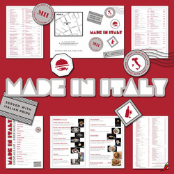 We recently printed updated menus for Made In Italy Restaurants - whose meals are divine!