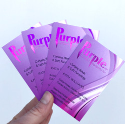 Purple curtain cards for FB