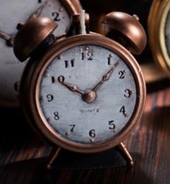 Copper Clock Candle