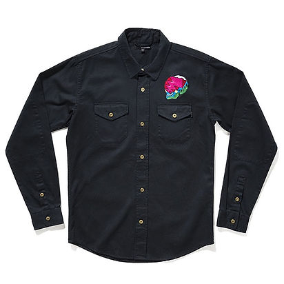 ql lightning skull embroiderd shirt.jpeg