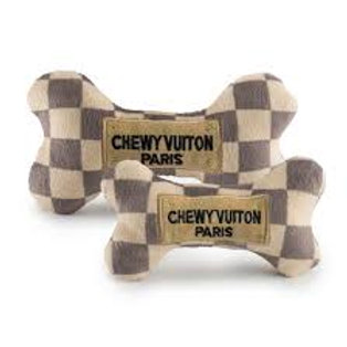 Chewy Vuiton Checkered Dog Toy