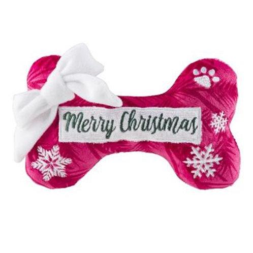 Merry Christmas Puppermint Bone Toy
