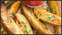 Baked Galic Parmesan Potato Wedges