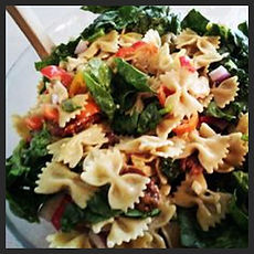 Spinach and Basil Bow Tie Pasta