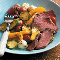 Balsamic Grilled Steak and Veggies