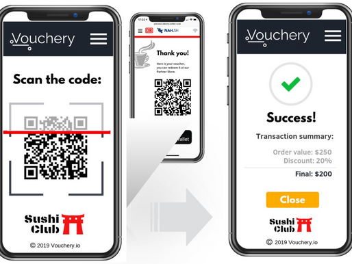 Vouchery QR Code Scanner Update.