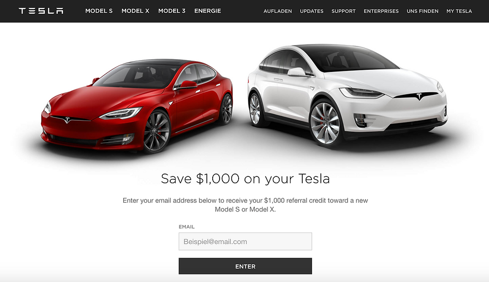 Tesla Referral Program as part of their Discounting Strategy