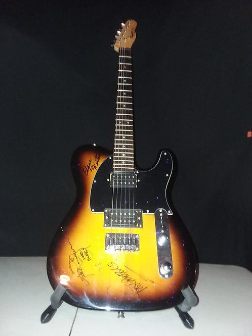 Edgar Winter, Rick Derringer, Pat Travers Autographed Guitar