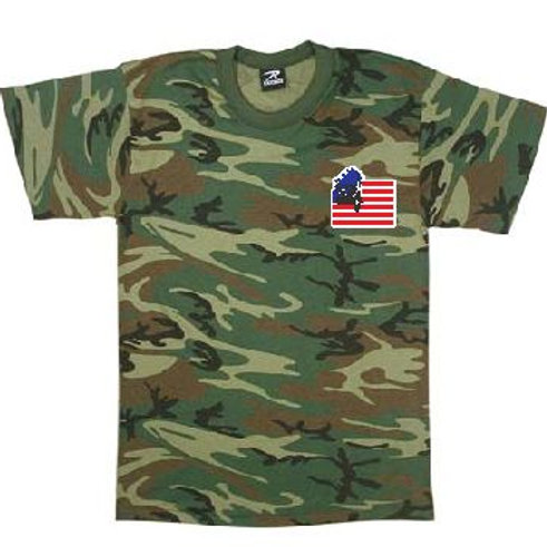 Men's Cammo Round Neck T-Shirt