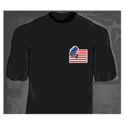 Men's Black Round Neck T-Shirt