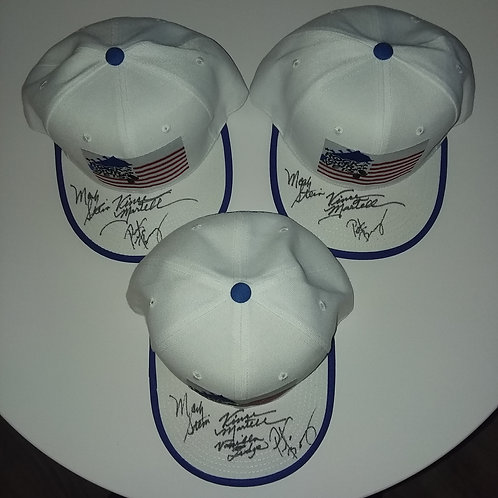 Mark Stein, Vince Martell, Pete Bremy of Vanilla Fudge Trucker Caps