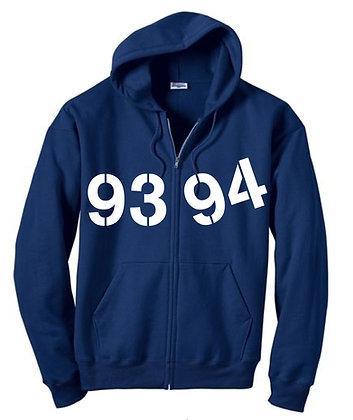 Basic 9394 Zip Hoodie - Blue