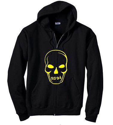 Skully Zip Hoodie - Black