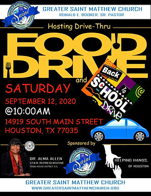 GSM IS HOSTING A FOOD DRIVE