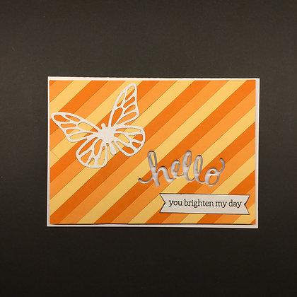 """Karte """"Hello Butterfly"""""""