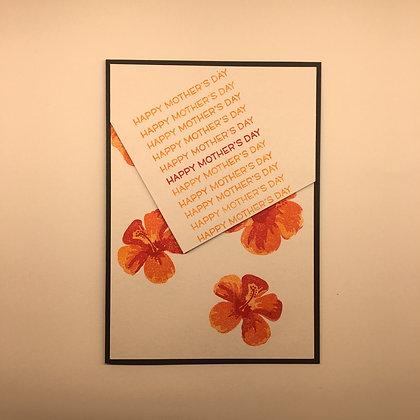 """Karte """"Red Flower"""""""
