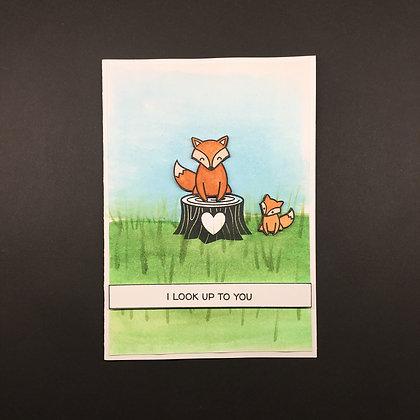 "Karte ""Fuchs Muttertag"""