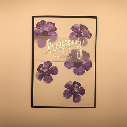 """Karte """"Violet Flower"""""""