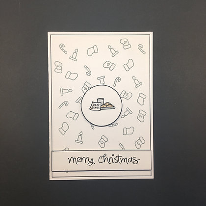 "DIY Weihnachts-Karte A6 ""Merry Christmas"""