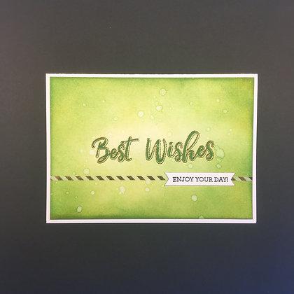 """DIY Glückwunsch-Karte A6 """"Best Wishes"""" Grün"""