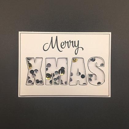 "DIY Weihnachts-Karte A6 ""Merry X-Mas"""