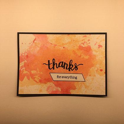 "Karte ""Thanks for Everything"""