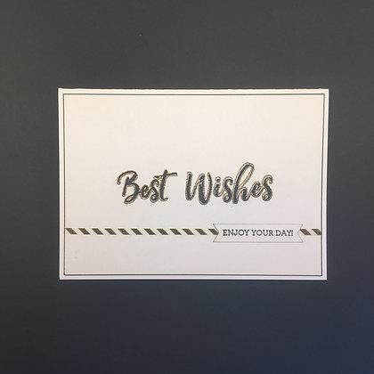 """DIY Glückwunsch-Karte A6 """"Best Wishes"""" S/W"""