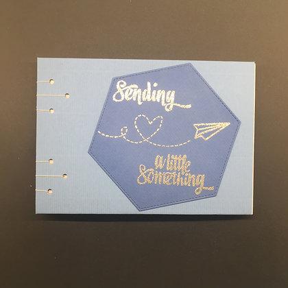 "DIY Notizbuch DIN A6 ""Sending a little Something"""