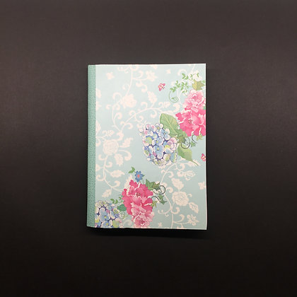 "DIY Notizbuch ""Blue Flowers"""