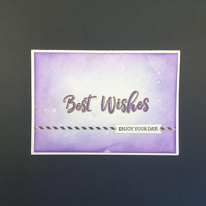 """DIY Glückwunsch-Karte A6 """"Best Wishes"""" Violett"""