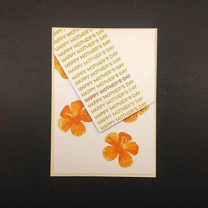 """Karte """"Orange Flower"""""""