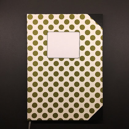 "DIY Notizbuch ""Green Dots"""