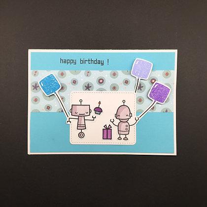 """Karte """"Robot Happy Birthday"""""""