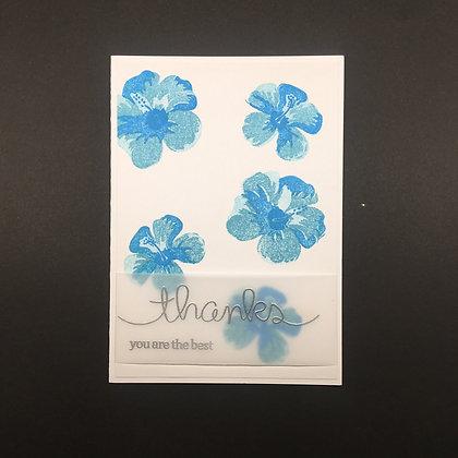"""Karte """"Blue Flower"""""""