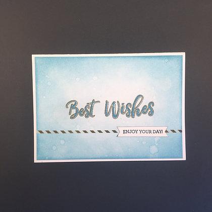"""DIY Glückwunsch-Karte A6 """"Best Wishes"""" Blau"""