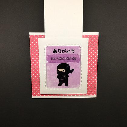"""Karte """"Thank you Ninja"""""""