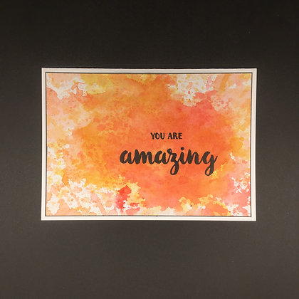 """Karte """"You are Amazing"""""""