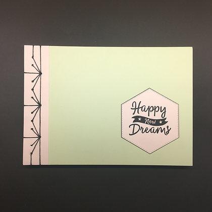 "DIY Notizbuch DIN A5 ""Happy new Dream"""
