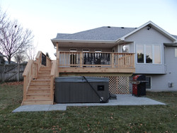 Deck and Hot Tub Pad