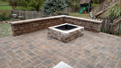 Freestanding Wall and Fire Pit