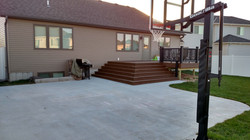Deck and Basketball Court