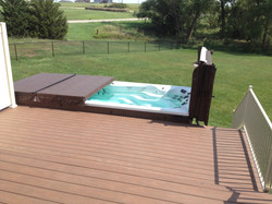 Multi Level Swim Spa Deck