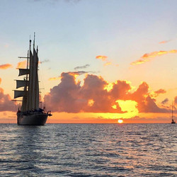 Star Clippers Ship at Sunset