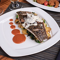 PAN ROASTED BLACK BASS