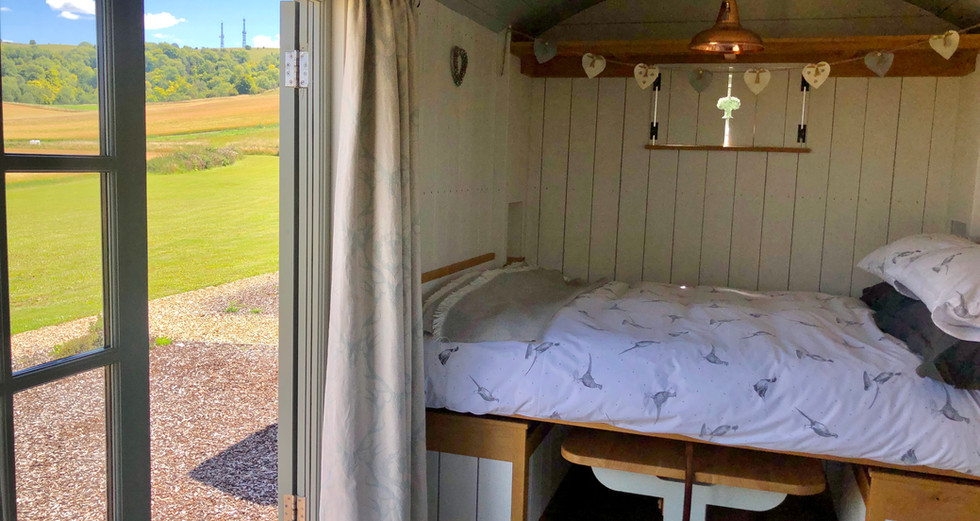 The double bed, Shepherd's Huts