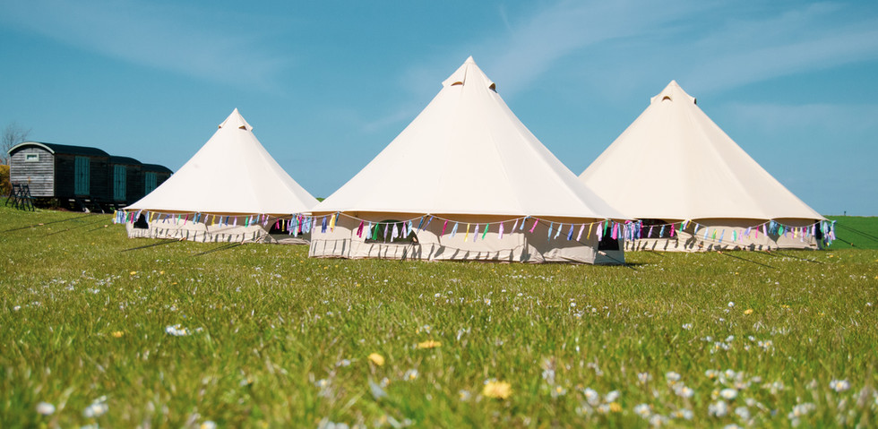 Our beautiful tents