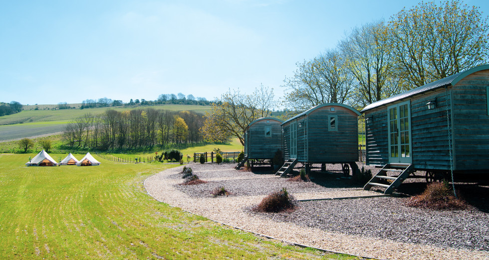 View across one of the Glamping sites