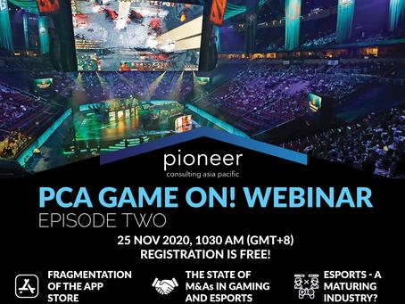 PCA Game On! Webinar Series - Episode 2