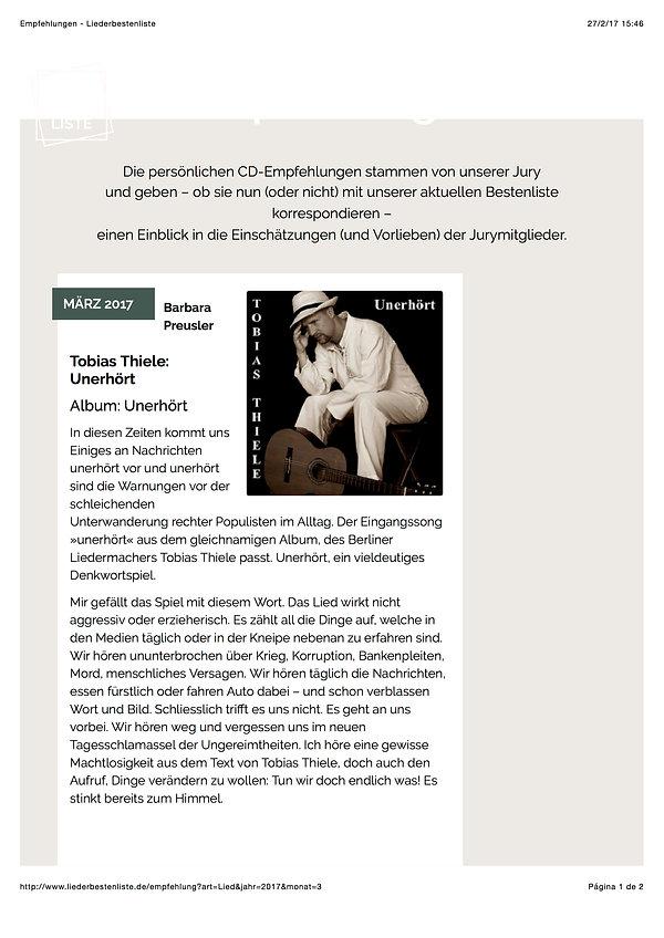Empfehlungen - Liederbestenliste - TT_20