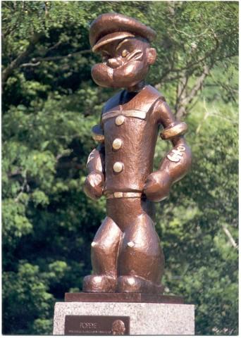 Popeye statue 1977